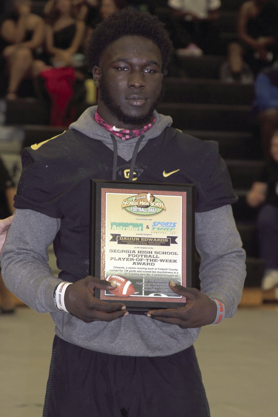 Daijun Edwards receives state Player of the Week honor