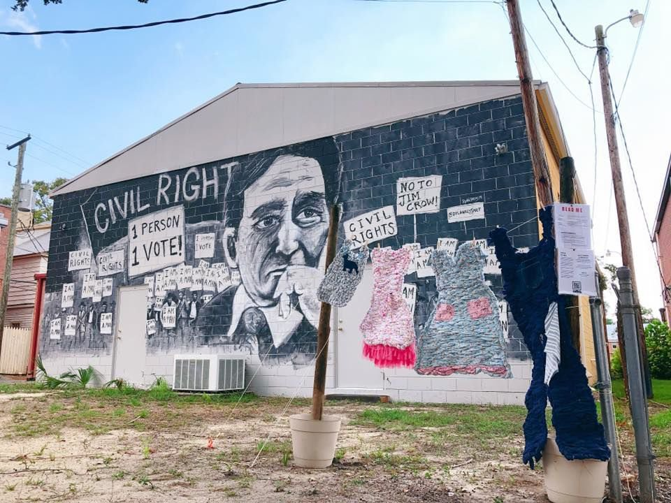 The exhibit found a new home at the Morris Abram mural in Fitzgerald.