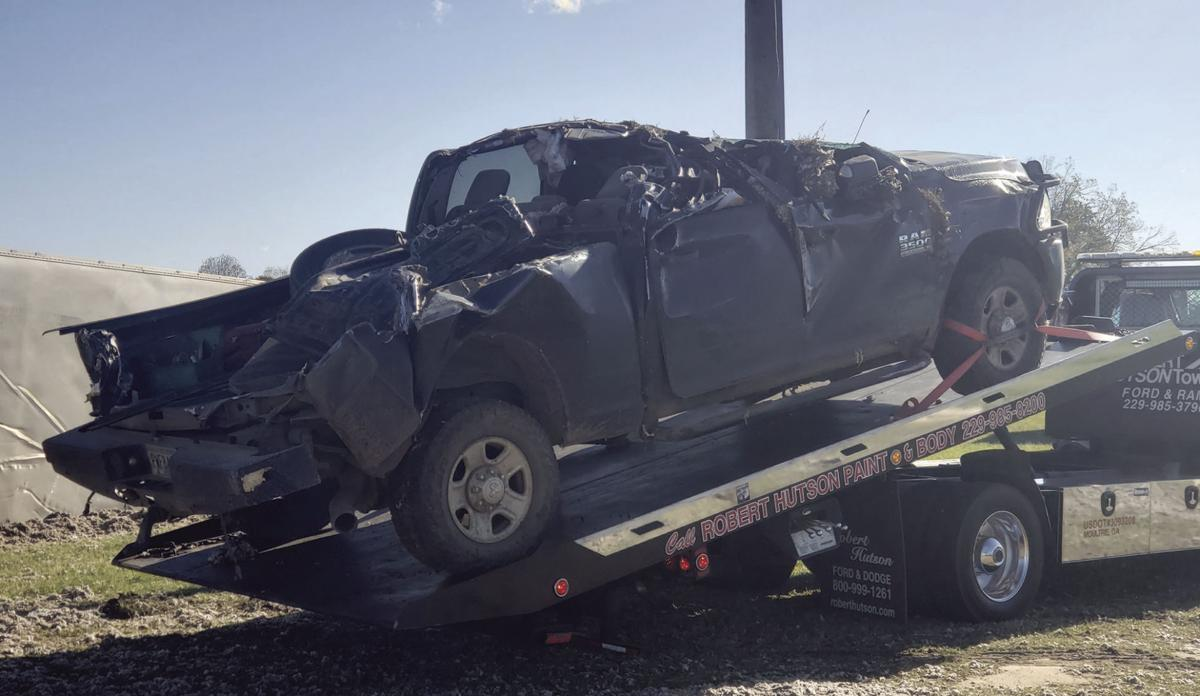 Semi, pickup truck crash on Hwy. 133