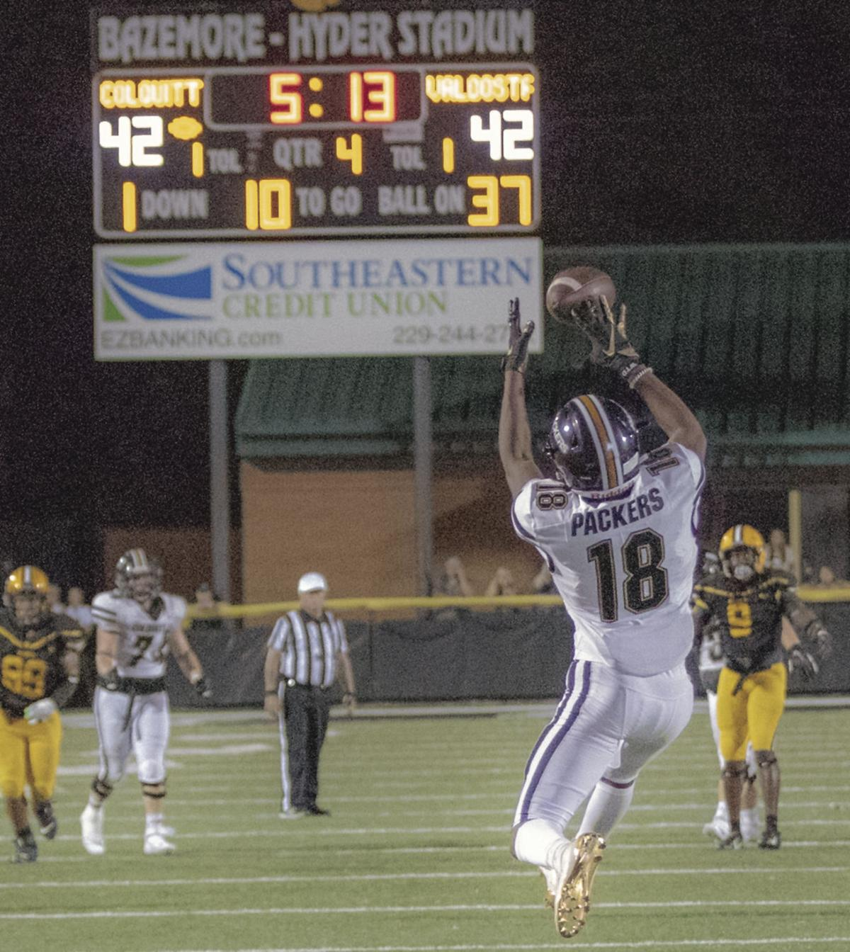 Packers fall in thriller to Valdosta 50-49