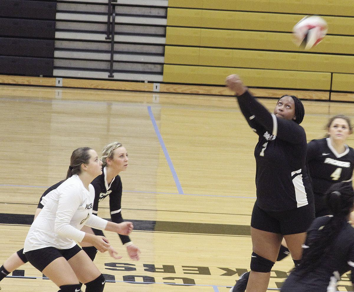 Colquitt volleyball action