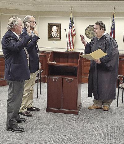 County commissioners take oath of office
