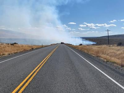 Fire on state Highway 75