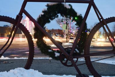 Christmas Bike Wreath
