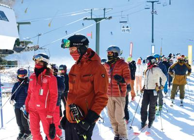 Skiers and riders
