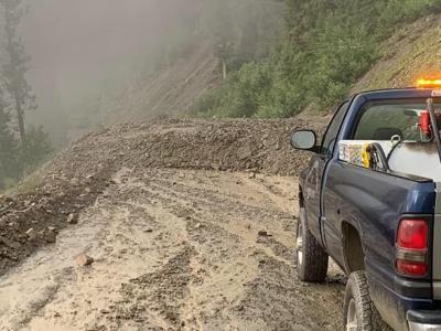 Trail Creek Rock Slide