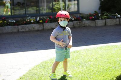 Kid Wearing a Mask in Sun Valley