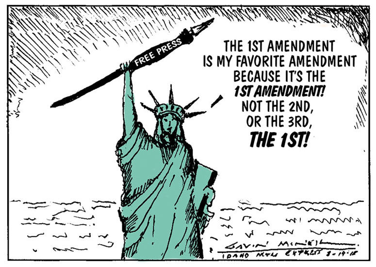 1st Amendment | Cartoon | mtexpress.com