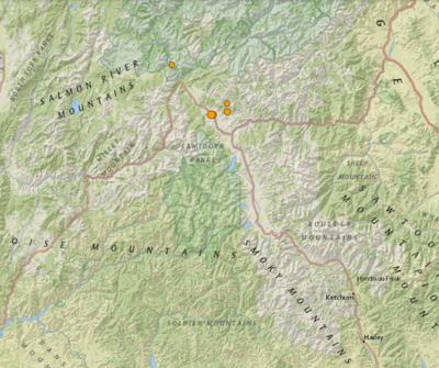 USGS Earthquake Map June 9
