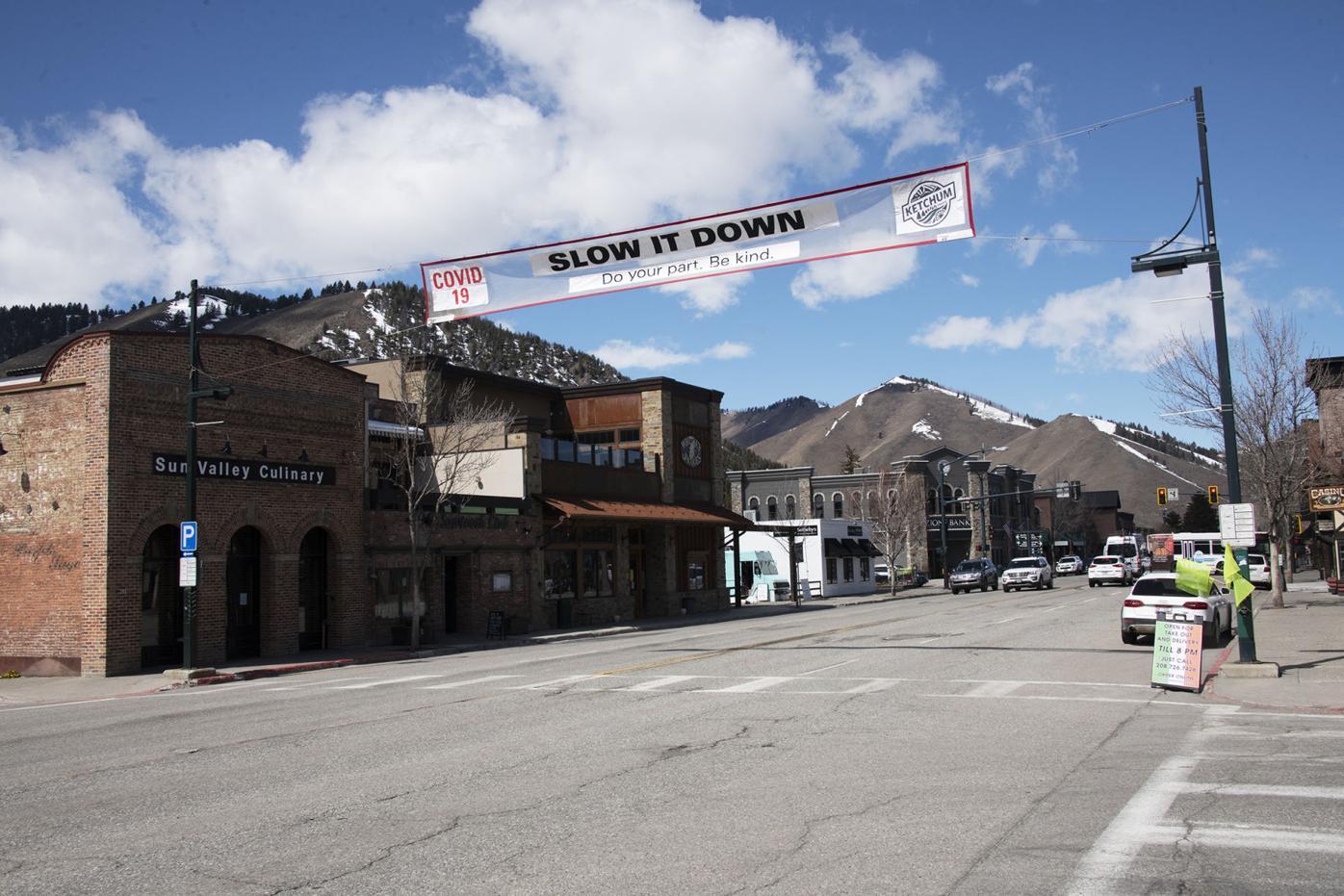 Ketchum Main Street, COVID-19 Banner