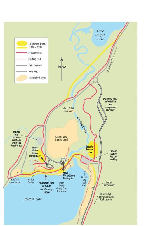 redfish lake idaho map Projects Will Reconfigure Redfish And Stanley Lakes Recreation redfish lake idaho map