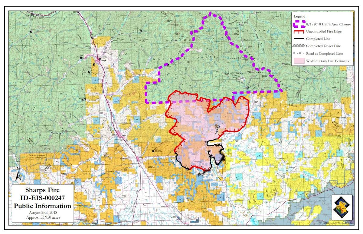 Sharps Fire exceeds 50,000 acres with 320 firefighters | Blaine