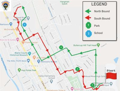 4 of July Hailey parade route 2020