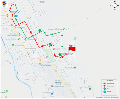 Hailey Fourth of July Parade Map 2020