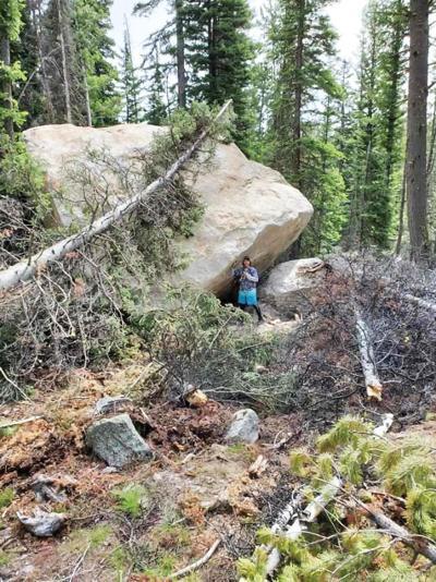 A boulder