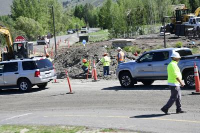 Sun Valley Road Construction, June 2021