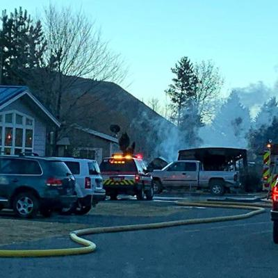 Fire destroys Meadows mobile home