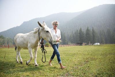 Doro and donkey Paulina