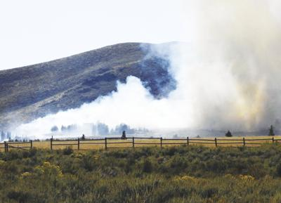 brush fire in Croy Canyon