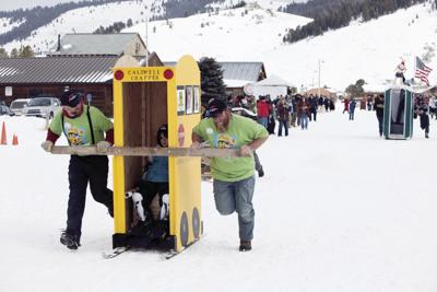 Winterfest Outhouse Race