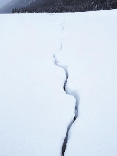 Redfish Lake Earthquake Crack