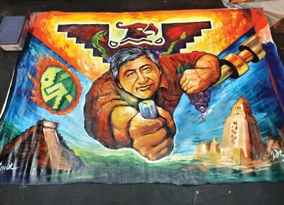 John Zender Estrada's painting of Cesar Chavez