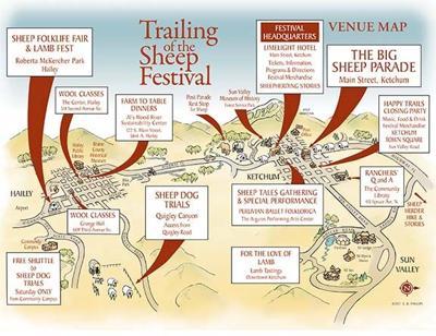 Sheep Festival Map