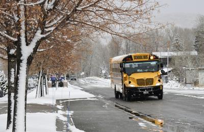 School Bus Snow