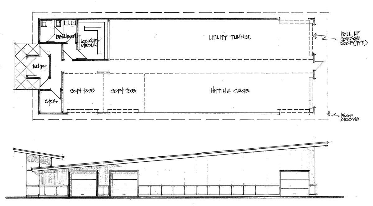 Hailey senior designs a batting cage local for Design indoor baseball facility