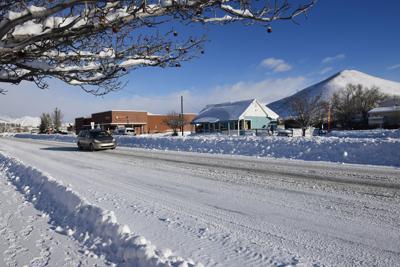 Snow on Hailey Main Street