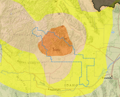 Blaine County Drought Map