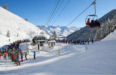 Baldy Ski Crowds