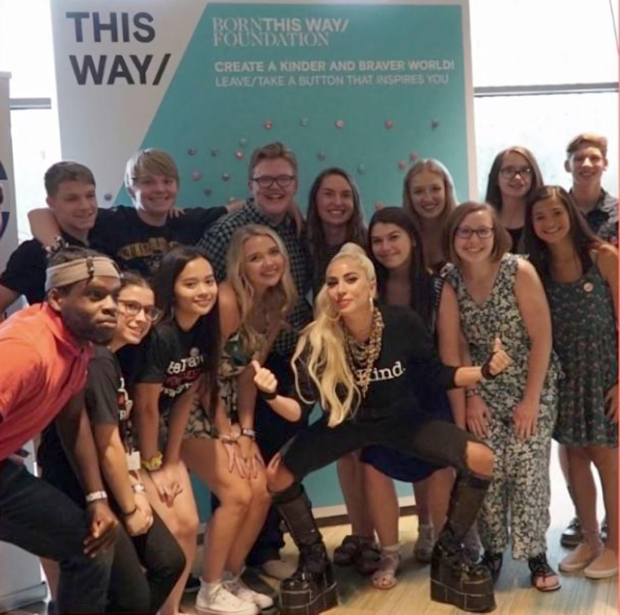 Teens meet Lady Gaga, talk about mental health challenges