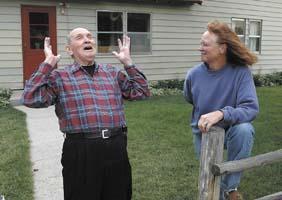 SURVIVOR: Illinois man who parachuted out of plane visits 1946 crash site