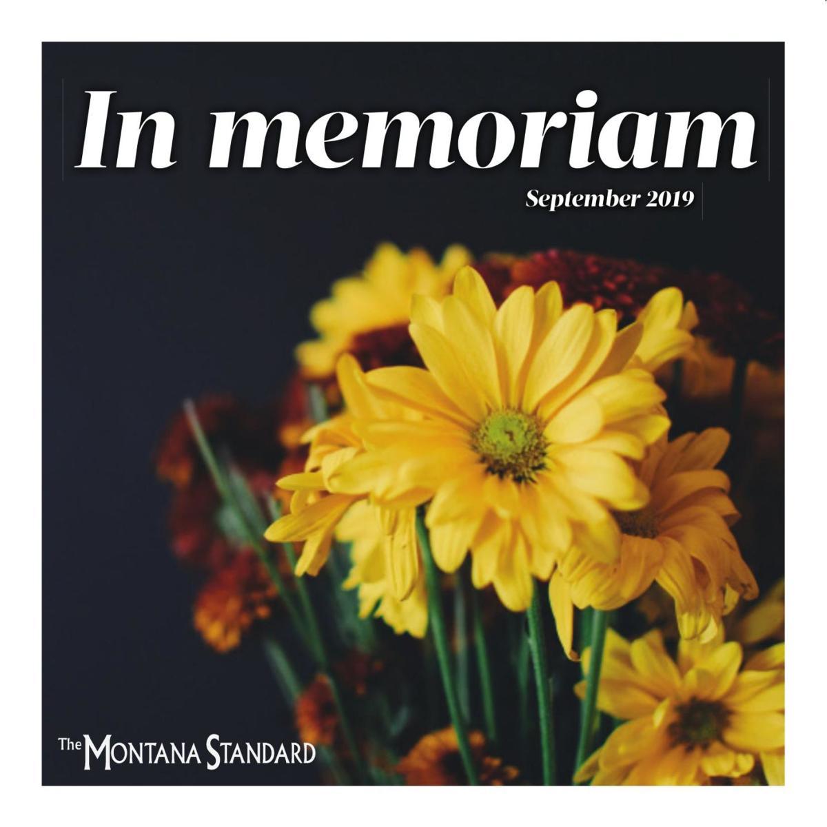 In Memoriam Sept. 2019