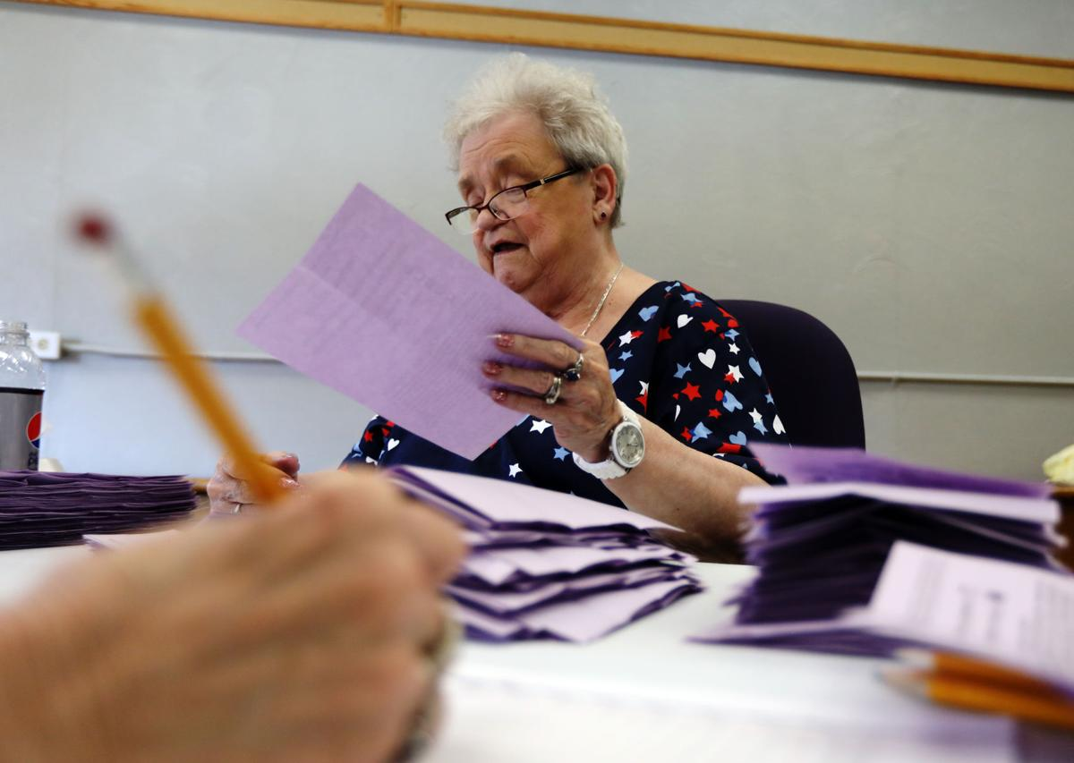 Volunteers count votes for Butte School District No.1 election