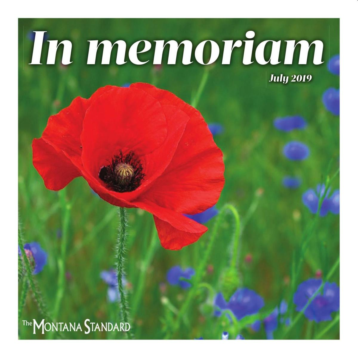 In Memoriam: Special tribute section July 2019
