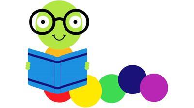 Colorful bookworm