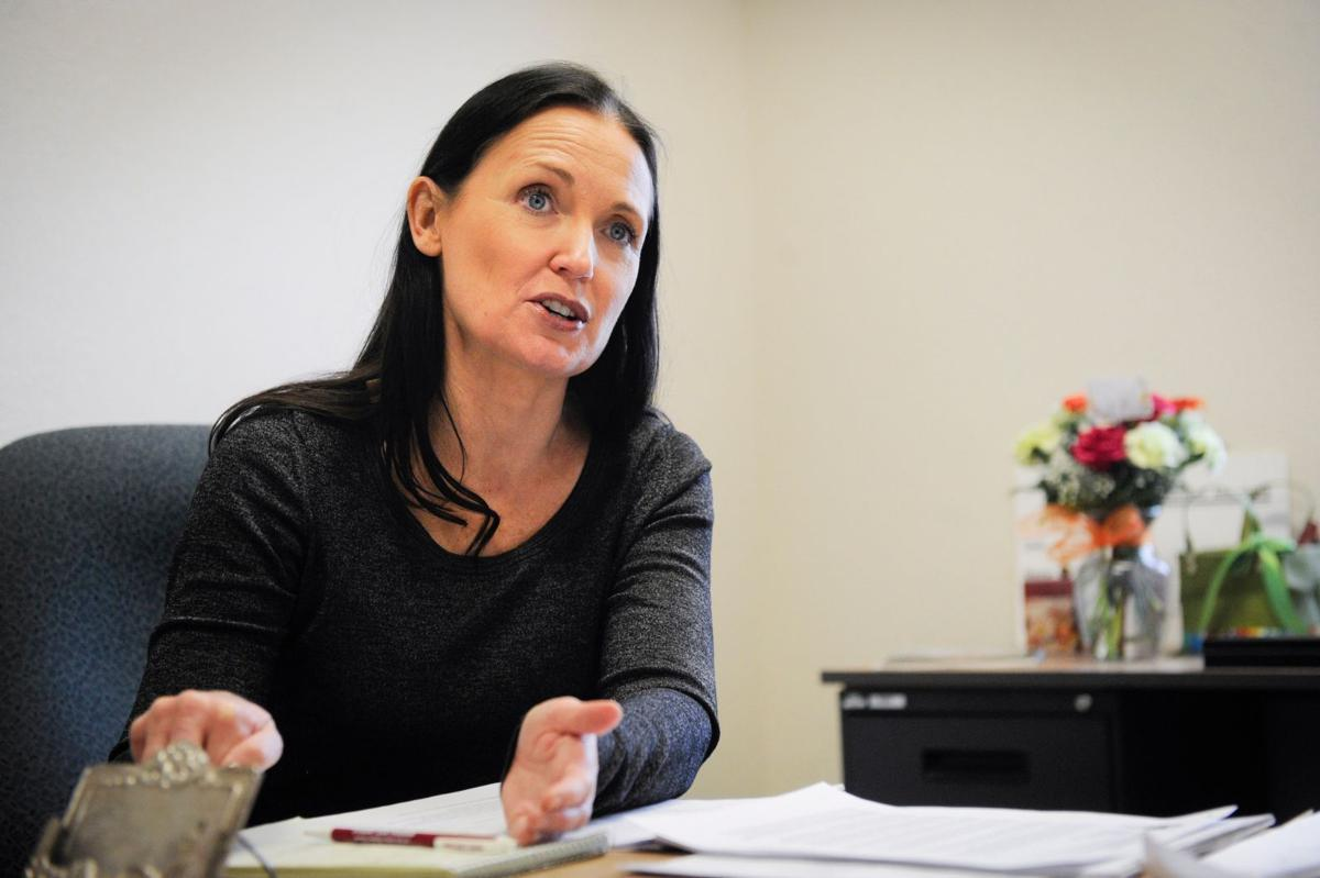 Angela McLean in her office