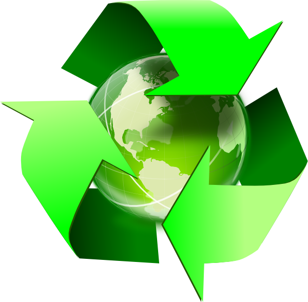 Recycle icon earth