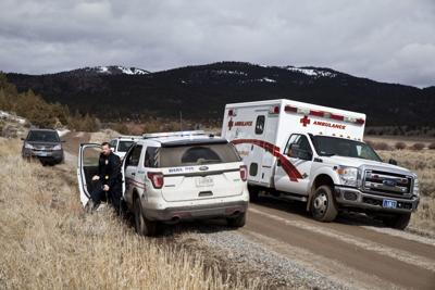 Police chase ends on a remote road in Browns Gulch