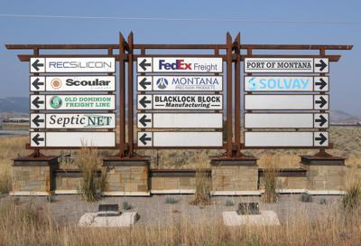 Industrial park sign