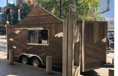 Beer garden trailer