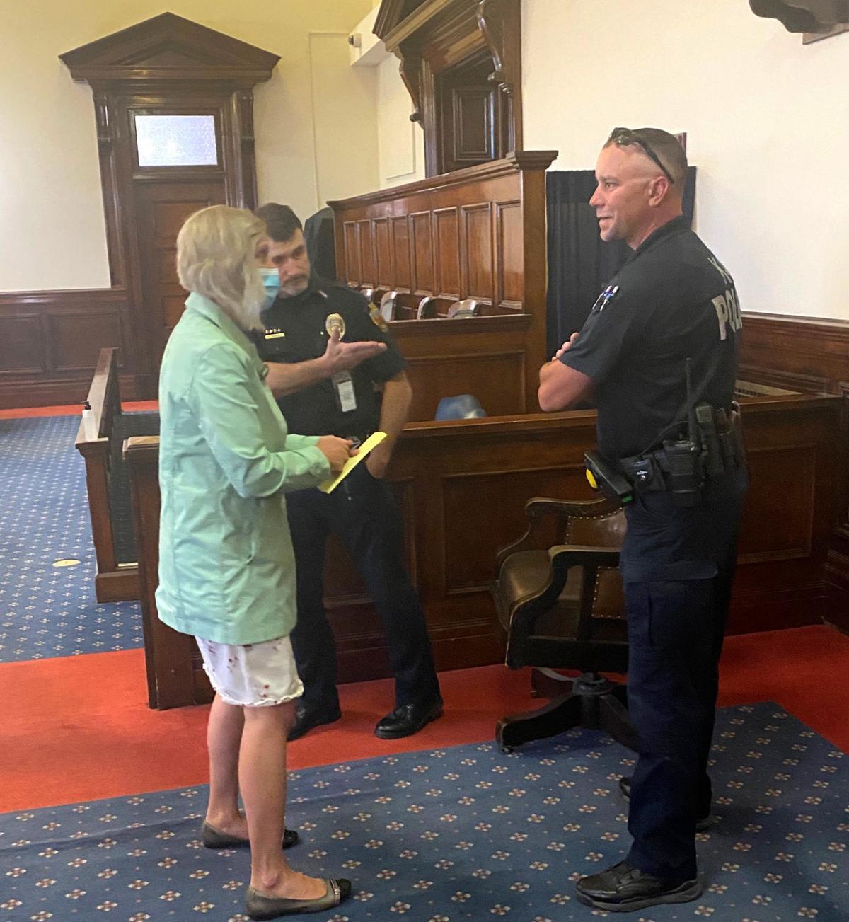 Trandahl escorted to jail