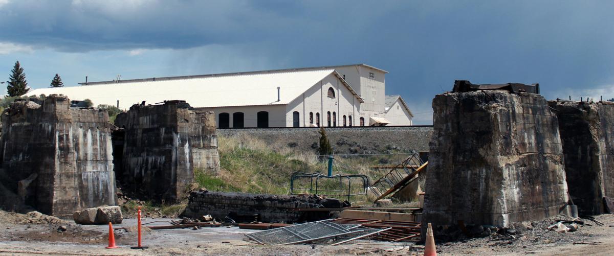 Parts of former smelter