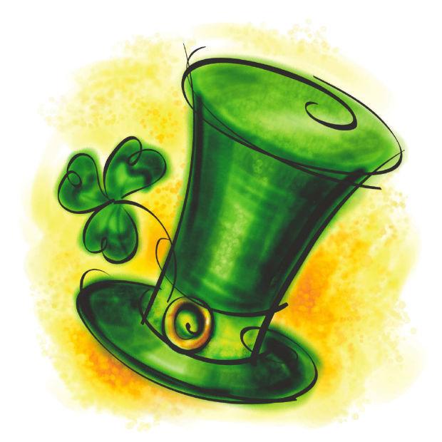 St. Patrick's Day icon shamrock