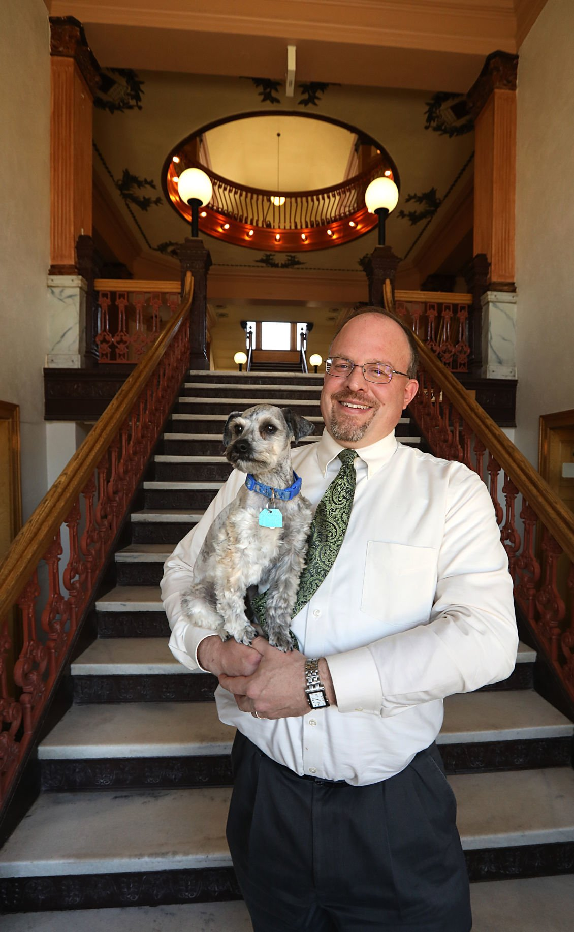 Charlie, the courthouse comfort dog