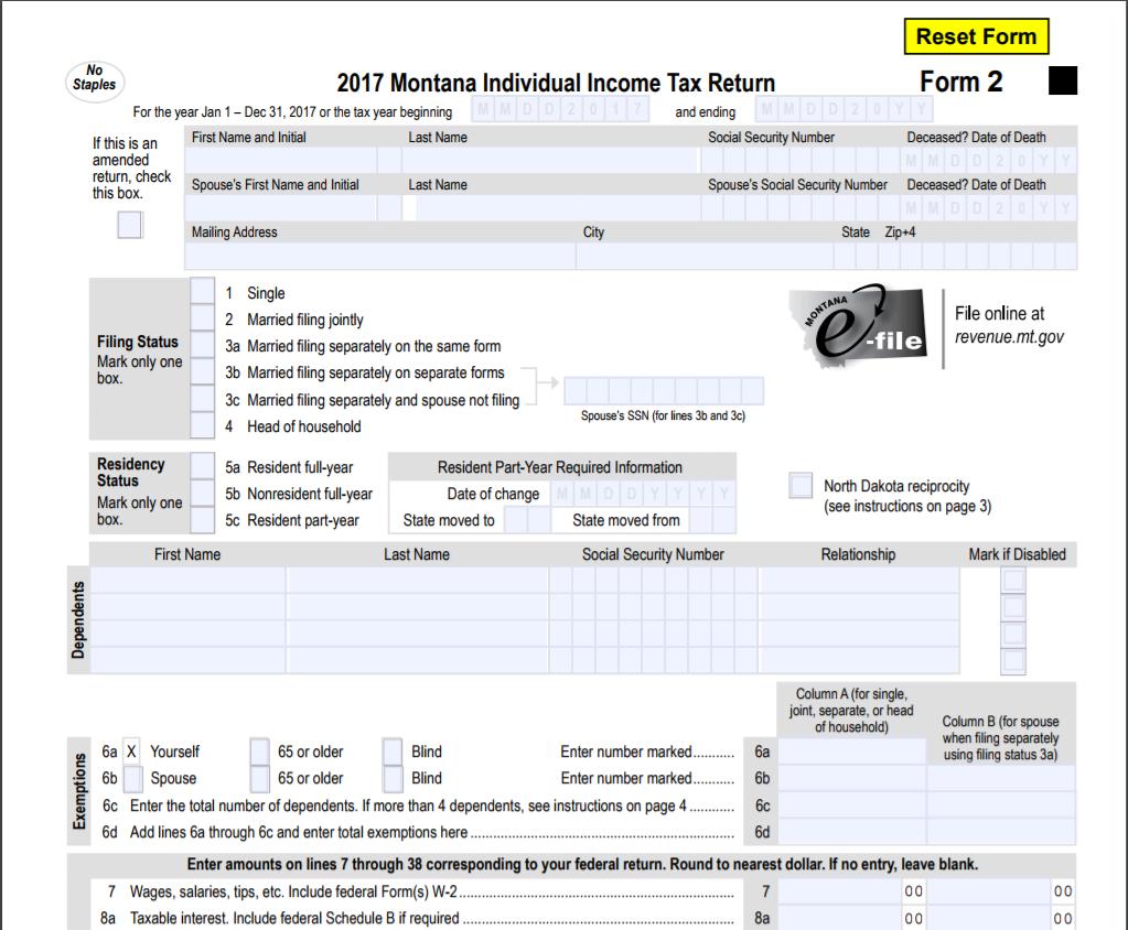 Tax form file