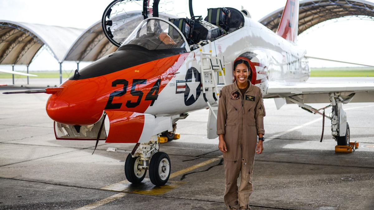 After nearly 110 years of naval aviation, the US Navy has welcomed its first Black female tactical jet pilot