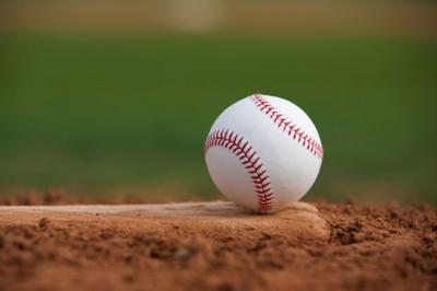 Baseball on the Pitchers Mound stockimage